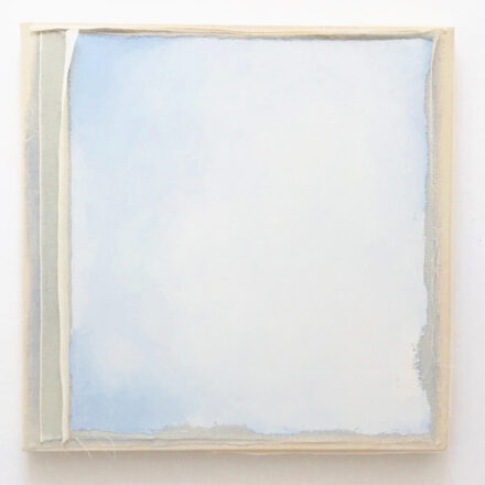 'Construct 20', 2019, oil and scrim on canvas, 60 x 60 cm