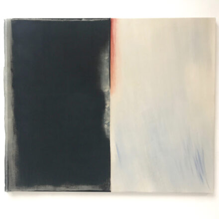 'Duality 1', 2020, oil and scrim on canvas, 110 x 140 cm