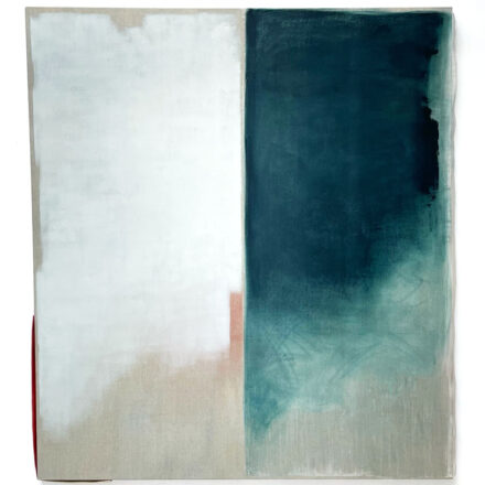 'Duality 12', 2021, oil and vinyl on linen, 180 x 160 cm